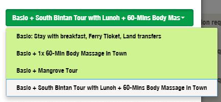 Bintan Tour Package Selection on BintanGetaway.com